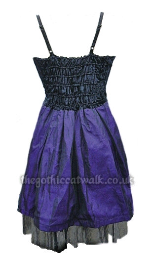 Purple & Black Velvet & Silk Gothic Dress