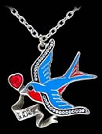 Swallow Love Necklace by Alchemy UL17