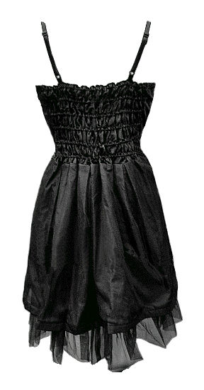 Black Velvet & Silk Gothic Dress