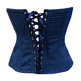 Blue Denim Corset