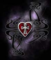 Alchemy Gothic Sacred Heart Ear Stud (Single)