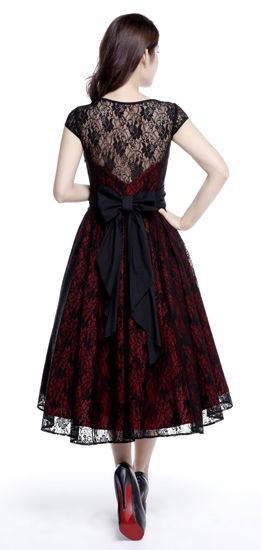 Black & Red Lace Gothic Dress