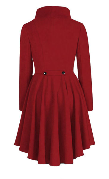 Red Gothic Waterfall Frock Jacket