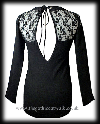 Gothic Punk Lace Corset T-Shirt Top