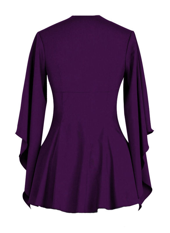 Plus Size Purple Gothic Top with Side Corset Lacing