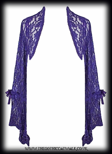Purple Lace Gothic Shrug Bolero Top