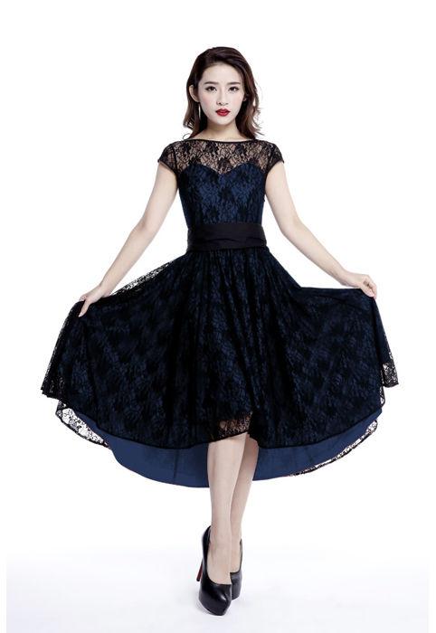 black amp blue lace gothic dress womens gothic clothing