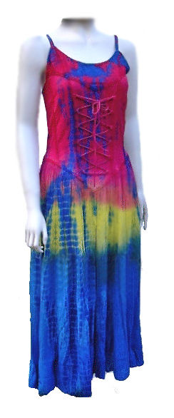 Long Multi Coloured Hippy Goth Dress