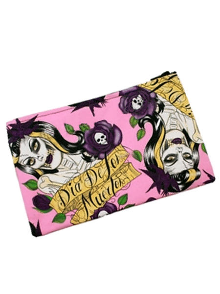 Pink Tattoo Make-Up Bag - Day of the Dead