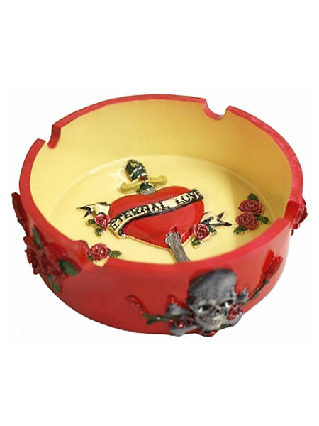 Tattoo Inspired Ashtray - Eternal Love