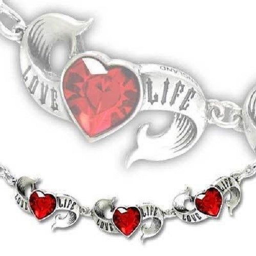 Alchemy UL17 Rock Collection - Love Life Swarovski Bracelet