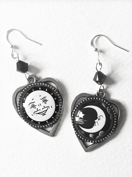 Sun and Moon Ouija Board Earrings