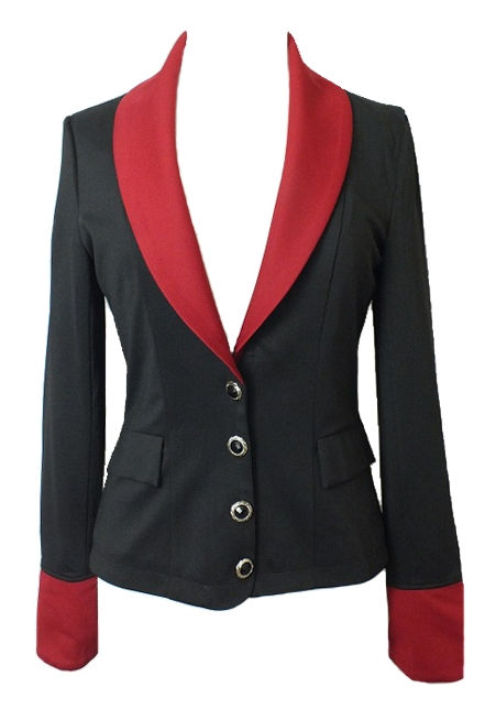 Black and Red Gothic Bustle Jacket