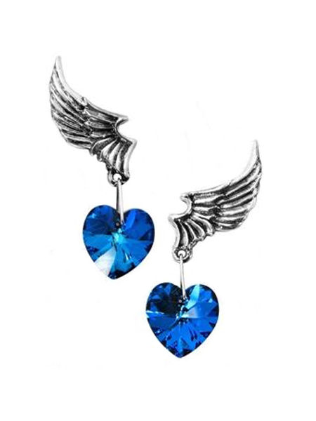 Alchemy El Corazon Winged Heart Earrings