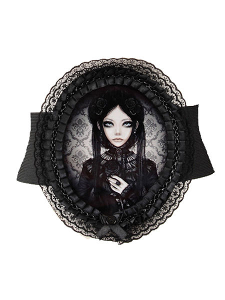 Grey Doll Cameo Gothic Belt by Restyle