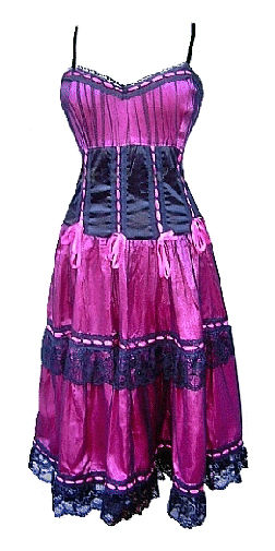 Pink Can-Can Burlesque Saloon Dress