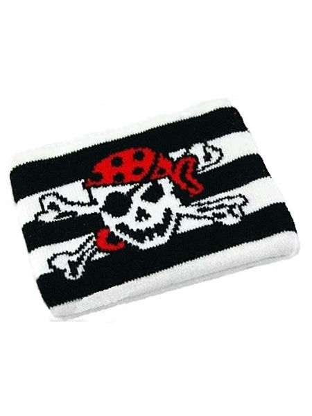 Emo Punk Black & White Striped Skull Purse