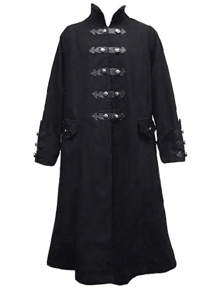 Mens' Full Length Black Gothic Coat