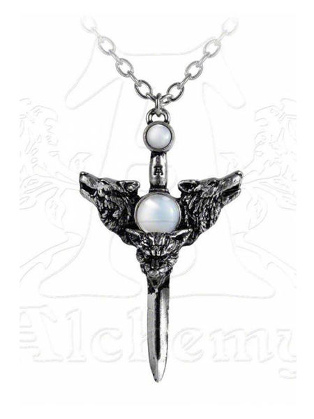 Wolverine Moon Necklace by Alchemy Gothic
