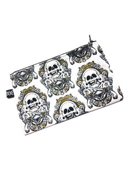 Smokin' Skulls Gothic Make-Up Bag
