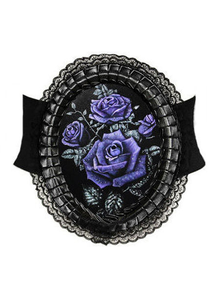 Restyle Deadly Rose Hologram Gothic Cameo Belt