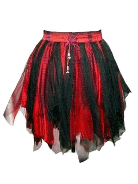 Black & Red Fairy Goth Mini Tutu Skirt