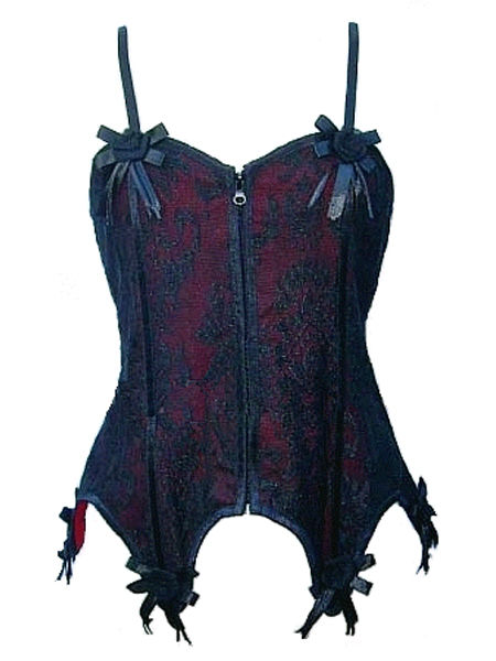 Black & Red Gothic Basque with Roses