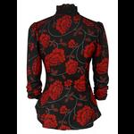 Gothic Victorian Steampunk Floral Blouse