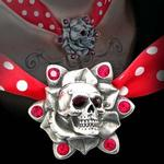 Alchemy UL17 Skull Rose Choker Necklace