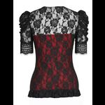 Black and Red Lace Gothic Top