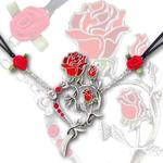 Rose Heart Tattoo Necklace by Alchemy UL17