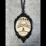 Large Gothic Glass Cameo Necklace - Antique Effect Ouija Board