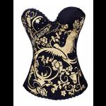 Pin Up Rock Tattoo Design Corset - Black