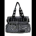 Black & White Striped Alternative Bag by Banned