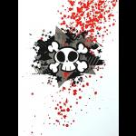 Gothic Punk Greetings Card - Skull & Star