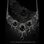 Gothic Spiderweb Cabochon Necklace
