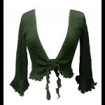 Green Knit Tie Front Cardigan