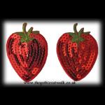 Sequinned Strawberry Burlesque Nipple Covers