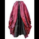 Red & Black Gothic Fairytale Silk Skirt