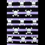 Gothic Punk Greetings Card - Purple Stripes White Skulls