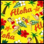 Pin Up Greetings Card - Aloha