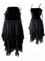 Black Velvet & Lace Gothic Skirt / Dress
