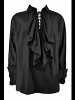 Men's Black Gothic Poet Pirate Romantic Shirt