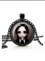 Gothic Necklace - Wednesday Addams Glass Cameo