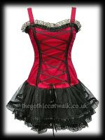 Red & Black Gothic Punk Corset Tutu Dress - Prom