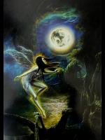 Moon Dance Faery Greetings Card