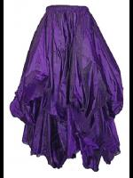 Dark Star Gothic Victorian Silky Long Purple Skirt