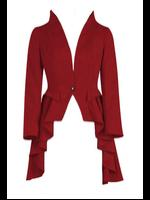 Plus Size Red Gothic Waterfall Frock Jacket