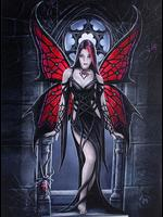 Arachnafaria Gothic Wall Plaque by Anne Stokes