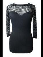Fishnet Sleeve Gothic Top